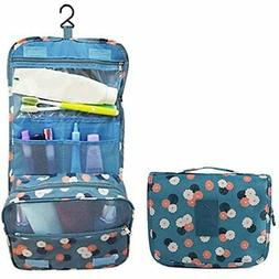 Travel Makeup Cosmetic Case, Portable Brushes Toiletry Bag K