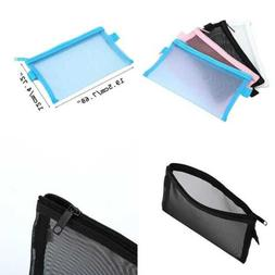 HOYOFO Travel Mesh Makeup Bag See Through Zipper Cosmetic Or