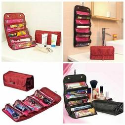 Travel Roll-up Cosmetic Make-up Case Beauty Organizer Pouch