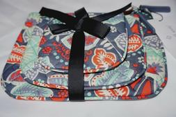 Vera Bradley Cosmetic Trio Nomadic Floral of 3 with Solid Gr