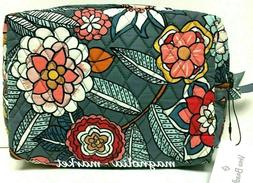 Vera Bradley TROPICAL EVENING LARGE COSMETIC Case Makeup Bag
