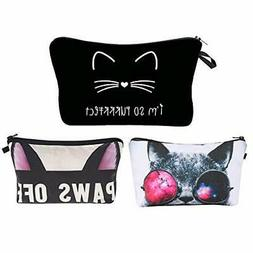 Jom Tokoy Unicorn Makeup Bag 3pcs/set Cosmetic Bag kitty Pen