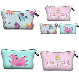 Jom Tokoy Unicorn Makeup Bag 3Pcs/Set Cosmetic Kitty Pencil