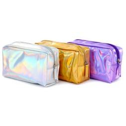 US Holographic Laser Bag Makeup Cosmetic Bag Pencil Case Hol