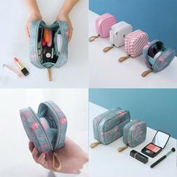 US Mini Travel Toiletry Storage Cosmetic Bag Beauty Zip Make