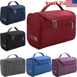 US New Womens Large Cosmetic Case Makeup Bag Storage Handle