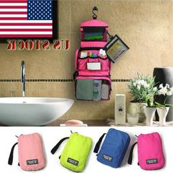 US Travel Cosmetic Makeup Bag Toiletry Case Wash Organizer S