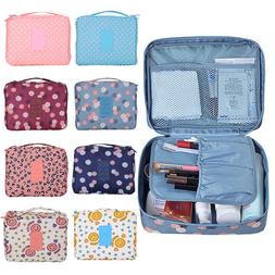 US Travel Cosmetic Makeup Toiletry Case Bag Wash Organizer S
