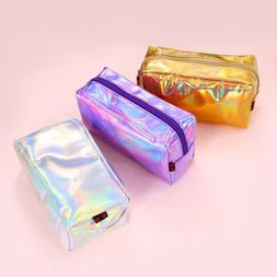 USA Holographic Laser Women Cosmetic Makeup Bag Zipper Pouch