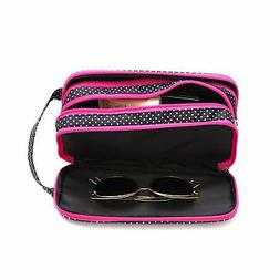 Versatile Travel Makeup Bag - Large Cosmetic Pouch - Travel