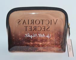 VICTORIA'S SECRET UP ALL NIGHT GOLD MAKEUP COSMETIC CASE BEA