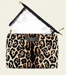 Victoria Secret Makeup Bag Cosmetic Bag Leopard Large Roomy