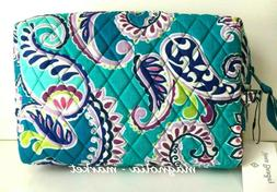 Vera Bradley WAIKIKI PAISLEY LARGE COSMETIC Makeup Bag Case