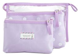 Zhoma 3 Piece Waterproof Cosmetic Bag Set - Makeup Bags And