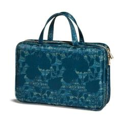 SONIA KASHUK Weekender Makeup Bag Blue Asian Floral Brush Ho