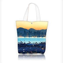 Women's Canvas Tote Bag, Collection San Diego at Sunrise in