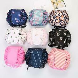 Women Drawstring Travel Cosmetic Bag Makeup Bag Organizer Ma
