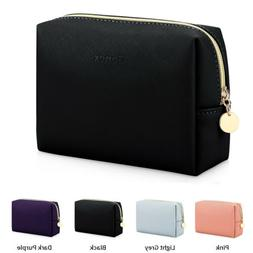 Women Men PU Leather Cosmetic Bag Waterproof Lightweight Mak