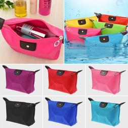 Waterproof Cosmetic Small Makeup Bag Travel Toiletry Organiz