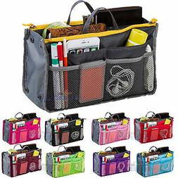 Women Travel Insert Makeup Handbag Organiser Purse Tidy Bag