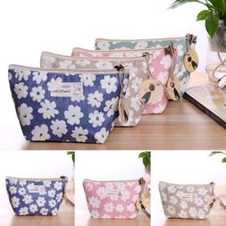 Womens Girls Purse Makeup Cosmetic Toiletry Case Pouch Trave