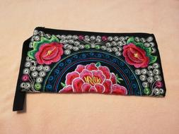 Wristlet Cosmetic Makeup Toiletry Case Clutch Bag Phone Purs