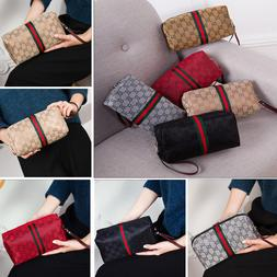 wristlet cosmetic makeup toiletry case clutch bag