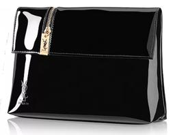 ysl black cosmetic clutch makeup bag pouch