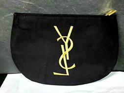 YSL Yves Saint Laurent small pouch cosmetics makeup bag blac