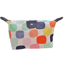 Parateck Zipper Closure Waterproof Makeup Bag Cosmetic Pouch