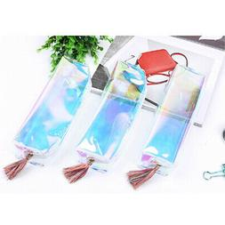 Zipper Makeup Bag Pen Pencil Pouch Travel Accessories Holder