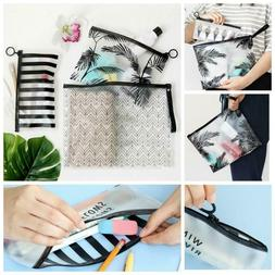 zipper pencil pen case pvc makeup pouch